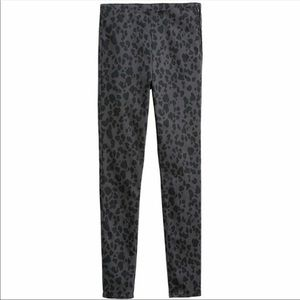 NWOT Woman's dark gray leopard print twill pants